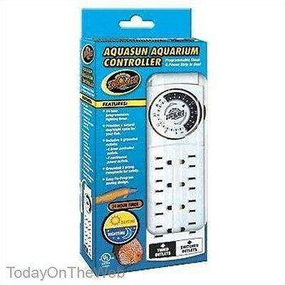 Zoo Med AquaSun Aquarium Controller Programable Timer With 8 Outlet Power Strip