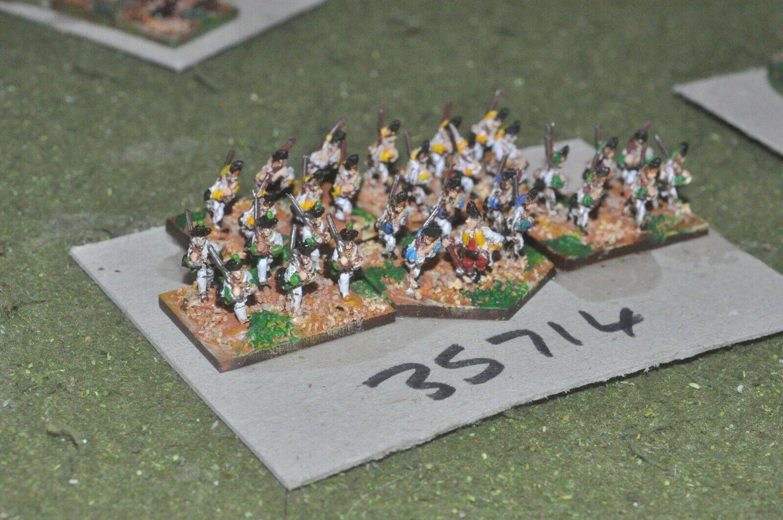 10mm 7YW   austrian - regiment 30 figures - inf (35714)