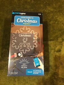 Countdown To Christmas Light Show Projector Snowflake Smart Lights Bluetooth NEW