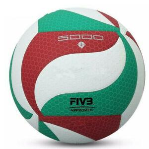 Molten 5000 No.5 standart Volley-ball en cuir PU Toucher Doux Sport Training Ball