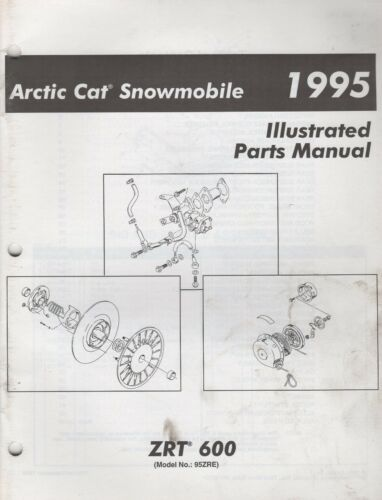 1995 ARCTIC CAT SNOWMOBILE ZRT 600 PARTS MANUAL PN 2255170 752