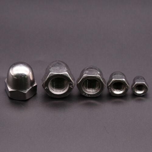 A2 304 Stainless Steel M3 M4 M5 M6 M8 M10 M12 Acorn Cap Dome Nuts