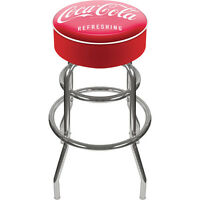 Refreshing Coca-cola Logo Bar Stool — Red