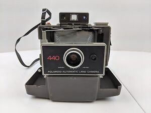 The colorpack polaroid land camera with original box, case, timer.