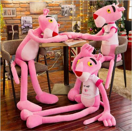 cute Pink Panther Animal Stuffed Doll Soft Plush Cushion Kids Toy Gift