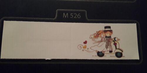 50 BIGLIETTINI BOMBONIERE MATRIMONIO STAMPA COMPRESA CODICE M526