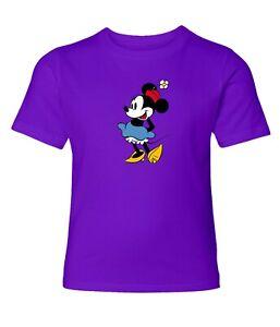 Disney-Classic-Minnie-Mouse-Men-Women-Crew-Neck-Unisex-Short-Sleeve-Top-T-Shirt