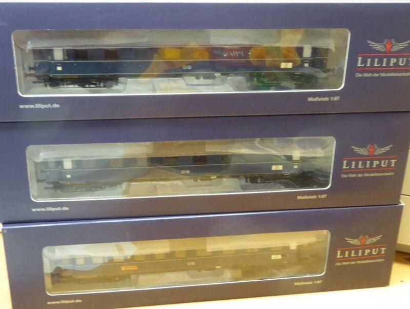 Liliput 330501 f-zugwagen-set FRECCIA DI DOM 3 pezzi DB ep. 3 con kkk und NEM in