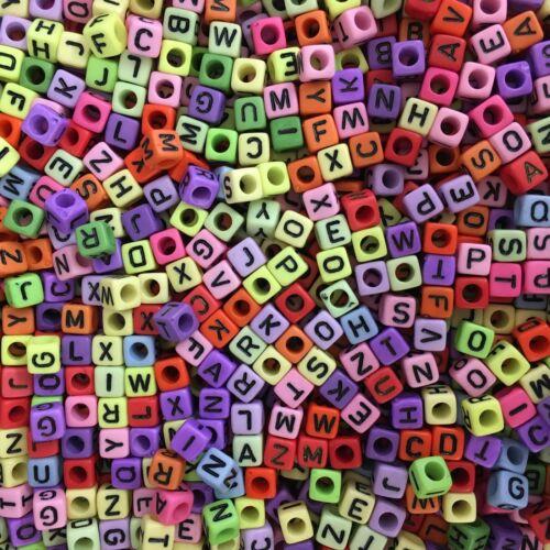 Dummy Clips Full Colour Alphabet Letter Beads Random A-Z Mixed Opaque Colours