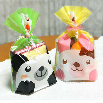Bear & Rabbit bread food gift treat cellophane cello bags & twist ties party