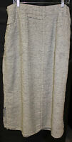 Flax Spring Street Skirt In 100% Linen. Size 3g. You Choose Color