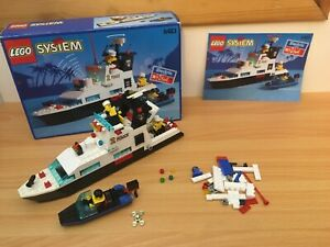 VINTAGE-LEGO-SYSTEM-6483-POLICE-PATROUILLE-cotiere-100-COMPLET-SUPERBE-ENSEMBLE