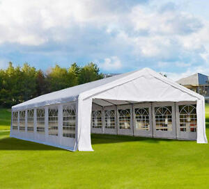 Image is loading 20-039-x-40-039-White-Outdoor-Gazebo- & 20u0027 x 40u0027 White Outdoor Gazebo Canopy Wedding Party Tent 14 ...