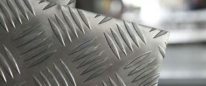 Lastre Alluminio Mandorlato Antiscivolo Anti Sdrucciolo 30 10 2mm