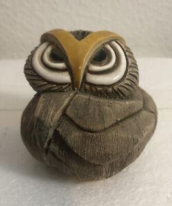 "Artesania Rinconada Angry Old Owl 🦉 3"" Tall 🦉 Made In Uruguay 🦉"