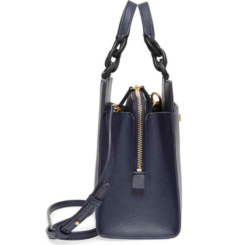 7381095e91b3 Tory Burch Kira Leather Small Tote Handbag in Royal Navy for sale online