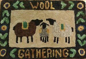 Rug Hooking Kit Hooked Wool Gathering