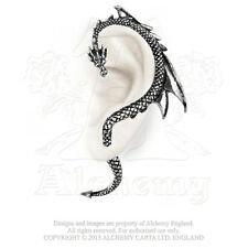Alchemy Gothic The Dragon's Lure Ear Wrap English Pewter Left Stud Earring