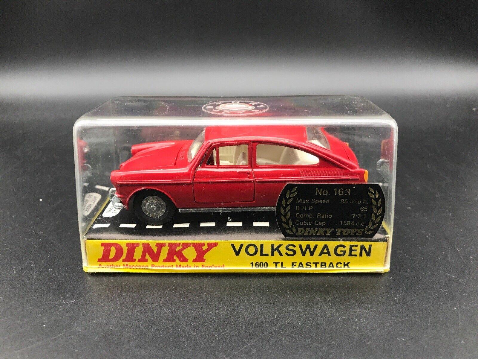DINKY 163 VOLKSWAGEN 1600TL FastbackNuovo di zecca in scatola Nuovo di zecca