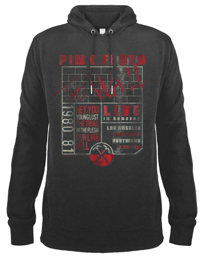 Pink Floyd 'The Wall Poster' (Grey) Pull Over Hoodie - Amp - New!