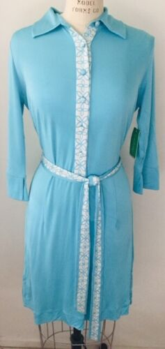 Lily Pulitzer 1970s  Turquoise Stretch Knit Shirt
