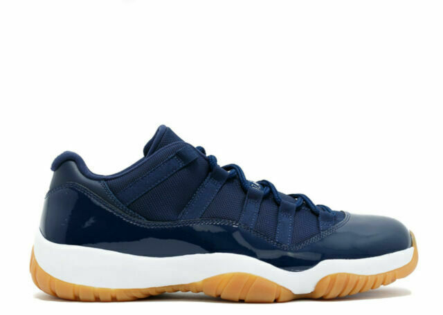 Air Jordan 11 Low Retro Navy Blue Gum Size 13 Worn Great Bred