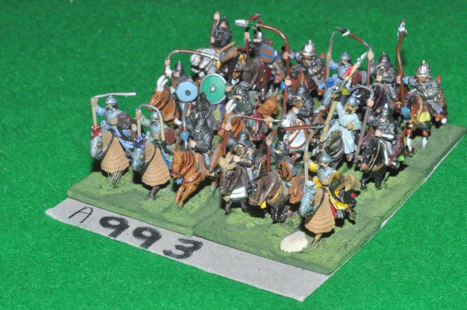 15mm medieval   asiatic - 18 Heavy Cavalry - cav (A993)