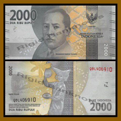 Indonesia 2000 Rupiah 2016 P-New New Design Unc 2,000
