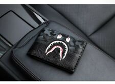 Bape A Bathing Ape Shark Head Camo Card Holder Wallet Bag Purse Gift PU Fashion