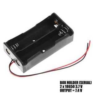 Caja 2 Baterias Tipo Liion 18650 Porta Pilas Litio Doble 3.7v A Serie 7.4v 2s1p Une Gamme ComplèTe De SpéCifications