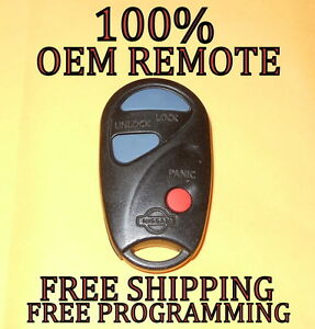 100% oem 99 00 nissan pathfinder keyless remote fob transmitterimage is loading 100 oem 99 00 nissan pathfinder keyless remote