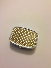Pill Box Medicine Organizer Handmade Stainless Container Case Fashion USA Gold