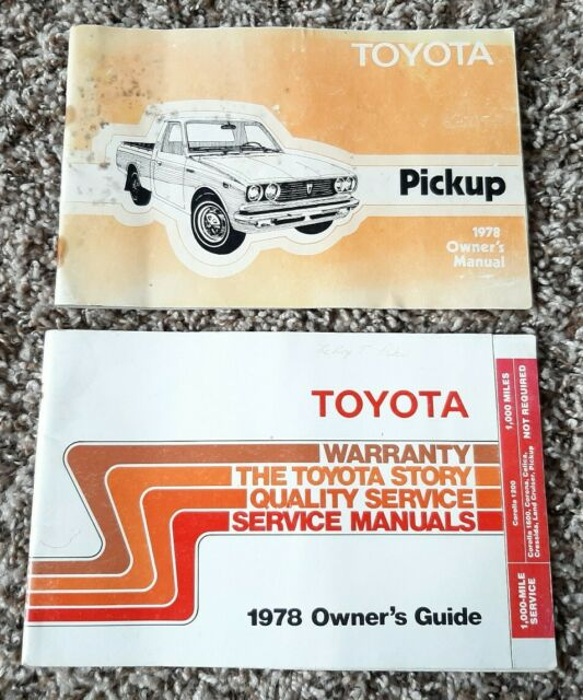 Toyota Truck Hilux Pickup Corrola Cressida 1978 Vehicles Owners Manual And Guide