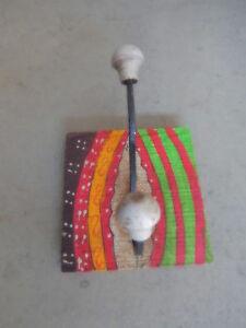 Wandhaken-aus-Holz-u-Metall-Kleiderhaken-Garderobe-Haken-Hut-Mantel-Shabby