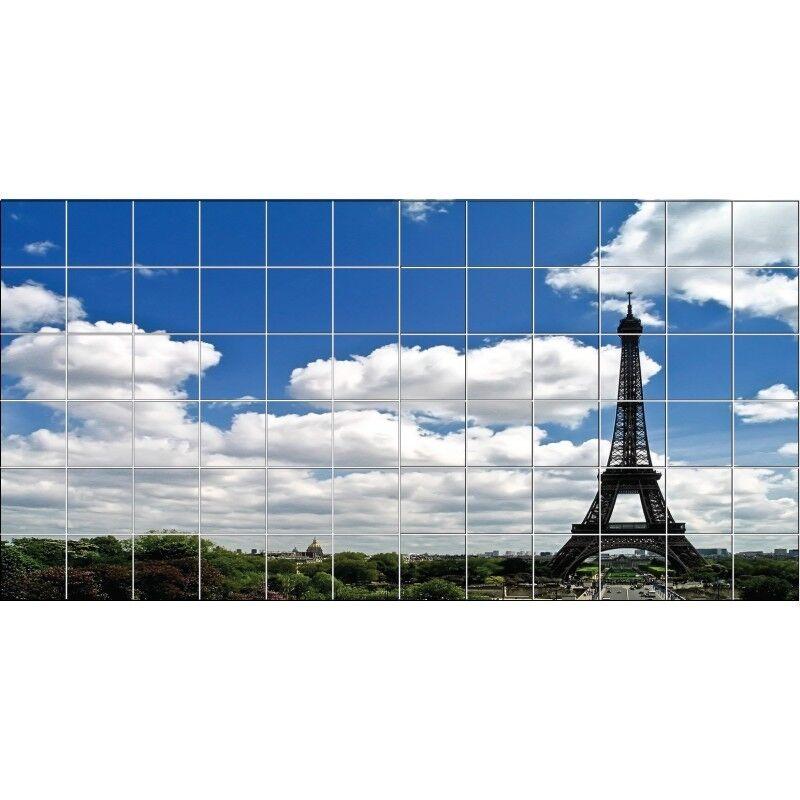 Aufkleber Fliesen Wand Eiffelturm 2012