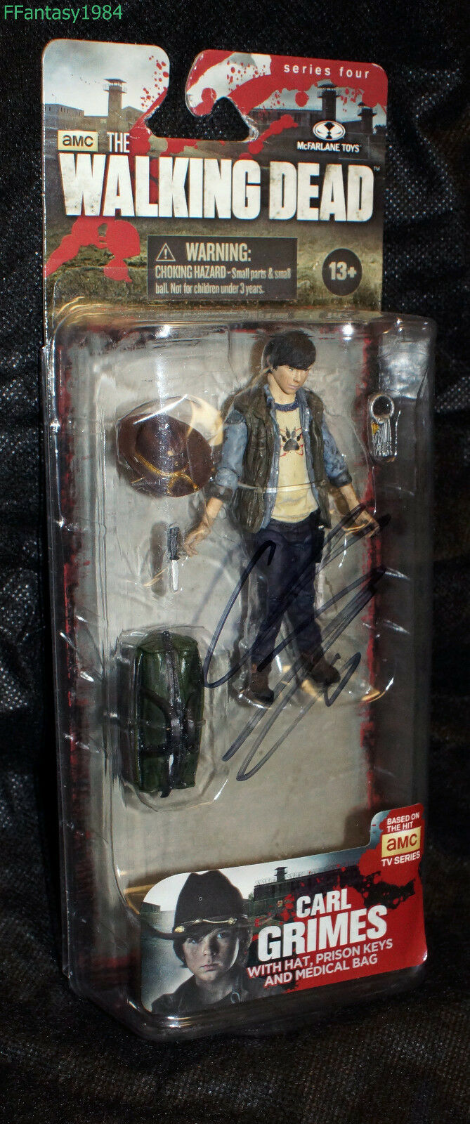 The Walking Dead Series 4 Carl Grimes Signed Chandler Riggs NIB
