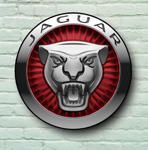 JAGUAR LOGO 2FT LARGE GARAGE SIGN WALL PLAQUE CLASSIC CAR XF XK XJ F TYPE XKS