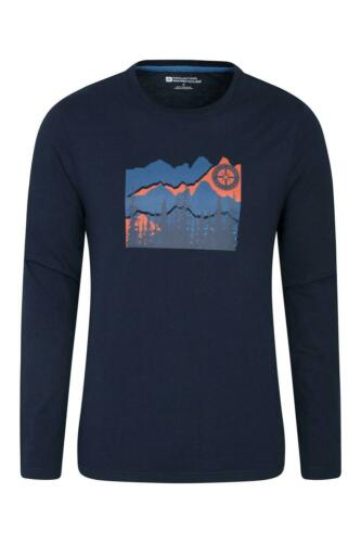 Mountain Warehouse Compass Long Sleeve Top Cotton Polyester Machine Washable