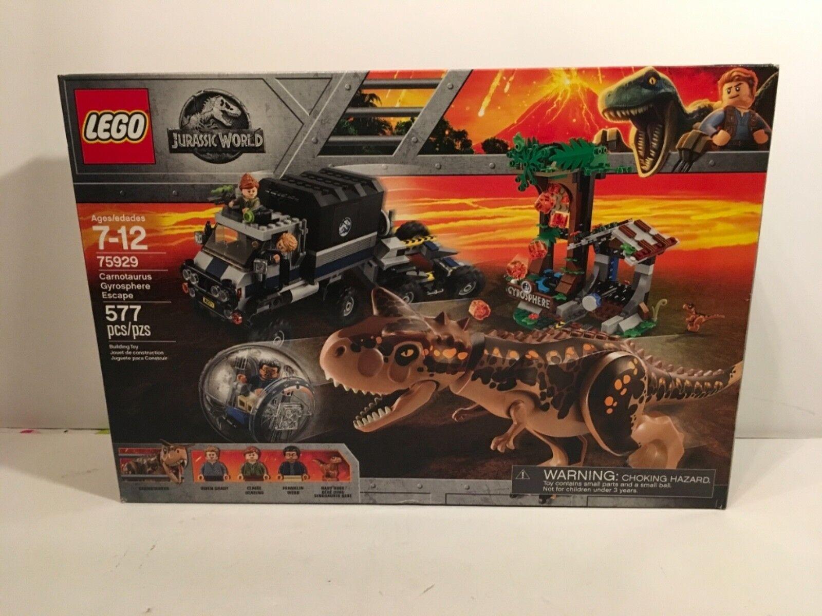 LEGO Jurassic World Carnotaurus Gyrosphere Escape 2018  75929  Nuovo Sealed