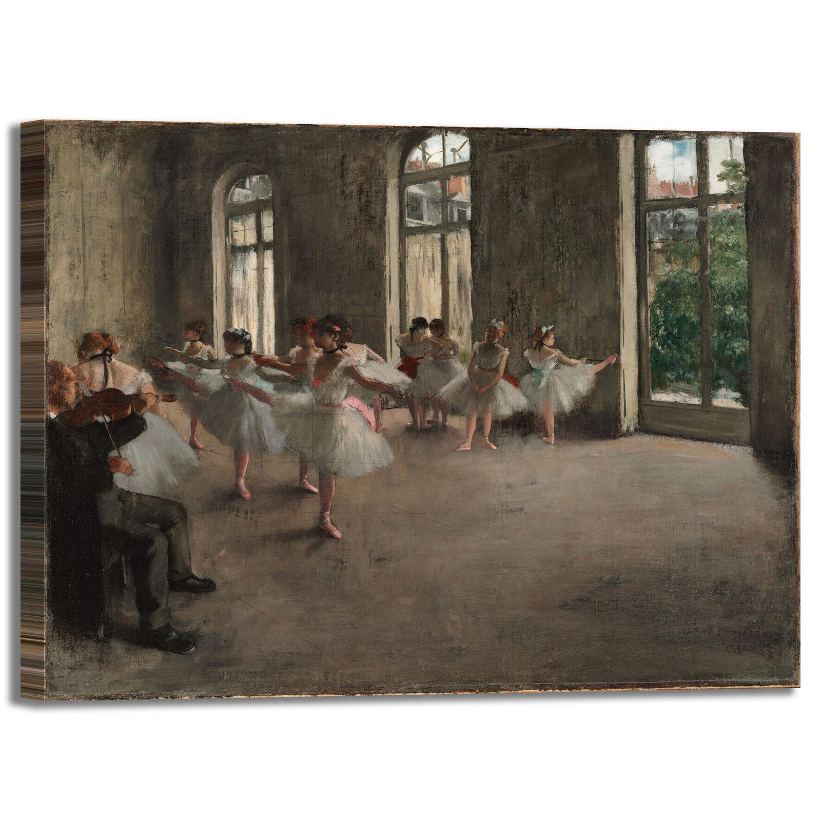 Degas prova generale design quadro stampa tela dipinto telaio arrossoo casa