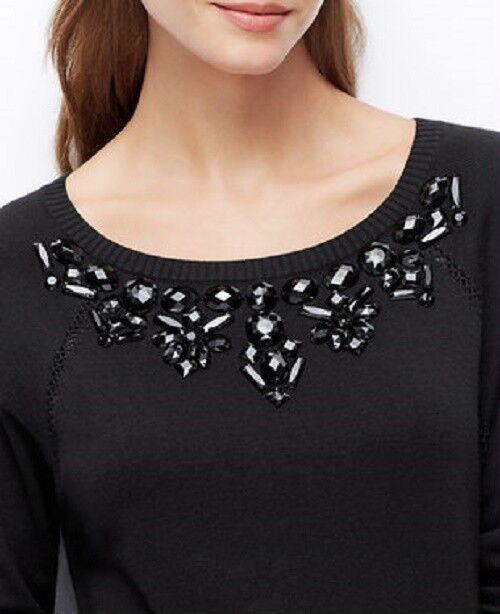 Ann Taylor Taylor Taylor - Medium (8-10) Schwarz Verziert Ls Pullover Kleid (19) | Kompletter Spezifikationsbereich  ba3873