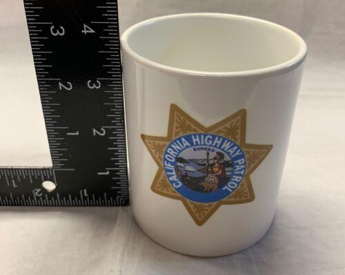 Set of 2 White Mugs California Highway Patrol Mugs w Full Color Logo