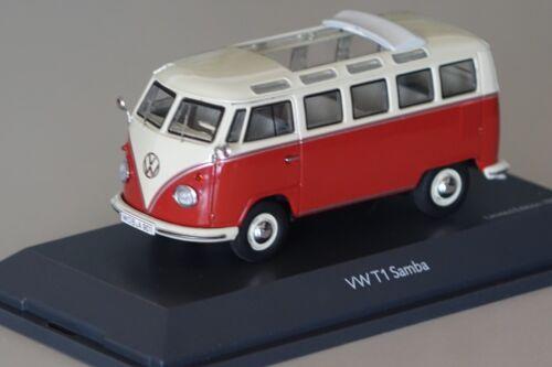 VW t1b Samba BUS Rosso-Beige 1:43 Schuco 450374300 NUOVO /& OVP