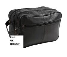 JUMBO Unisex - toilet bag extra large, washbag, Genuine Real Leather, Black 4611