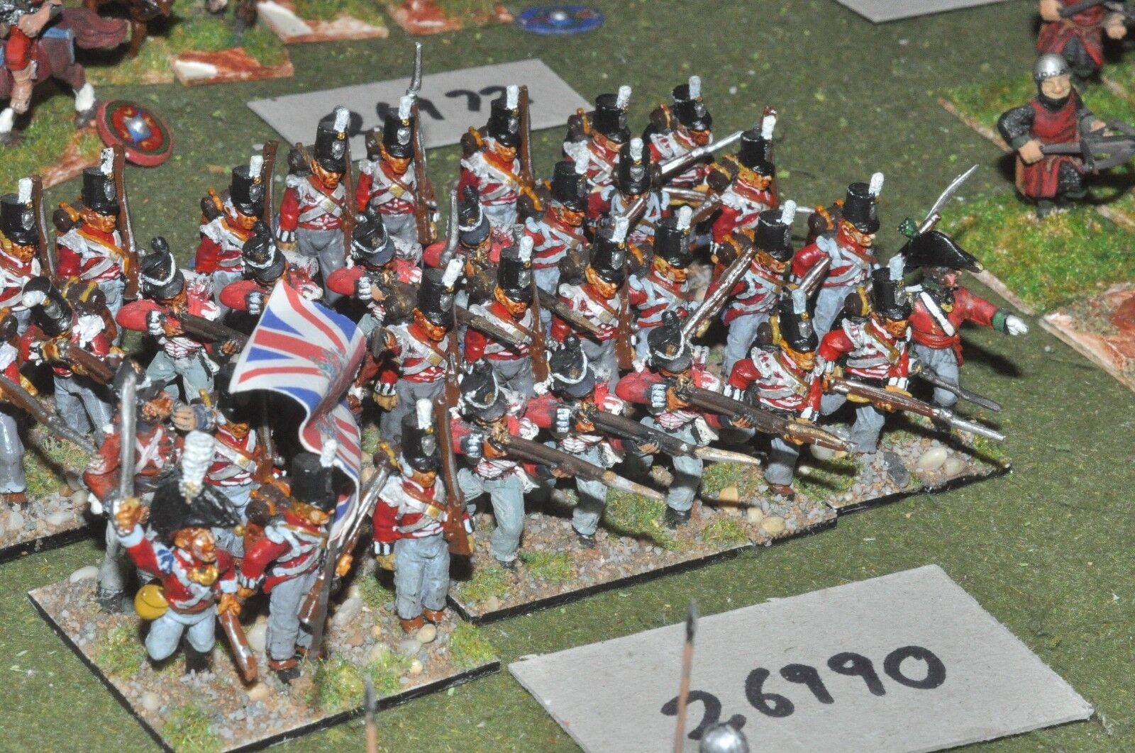 25mm napoleonic   british - regt. 36 figures - inf (26990)