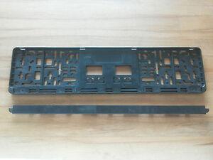 1 Stück Kennzeichenhalter Nummernschildhalter schwarz mit Leiste abnehmbar NEU