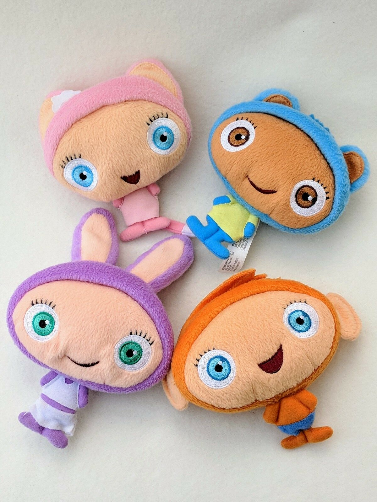 Waybuloo soft toy set nok nok nok tok - jojo de li lau lau cuddly teddy bundle menge 642513
