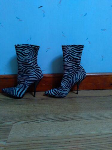 Marciano Tiger Zebra Animal print High Heel Boots