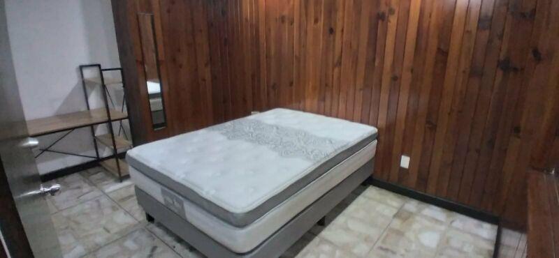 PERSONA SOLA cama matrimonial para profesionistas SOLO CABALLEROS