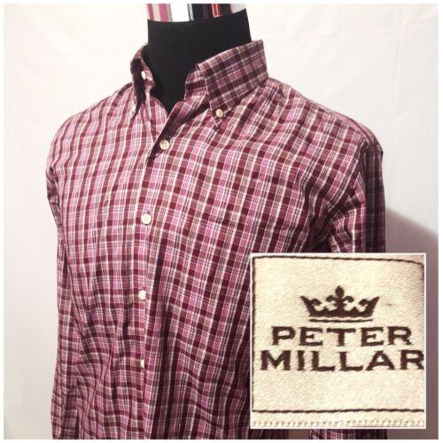 Algodón larga Peter talla de de hombre M Tamaño manga botones Camisa delantera Nuevo para con Millar Fqpww8
